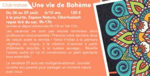 Une Vie de Bohème - Club nature 6-15 ans @ RDV à la yourte Espace nature Oberhaslach.