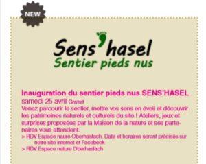Inauguration du sentier pieds nus Sens'hasel